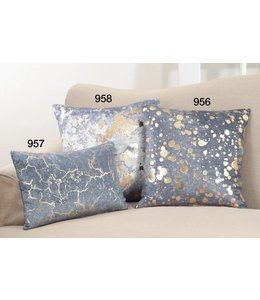 Foil Spattered Pillow Square - Navy Blue