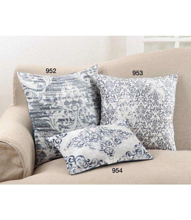 Distressed Motif Pillow - Indigo
