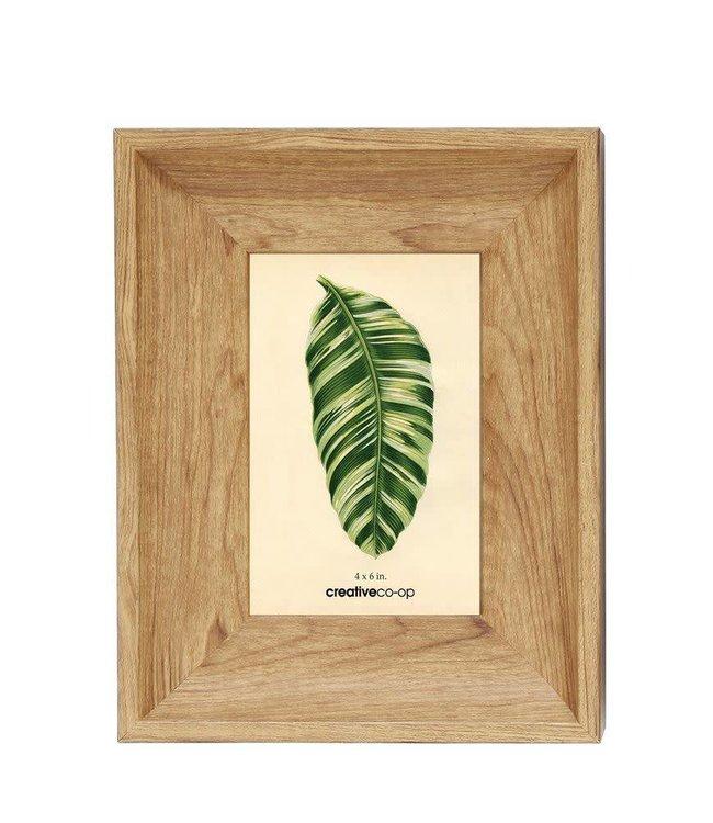 Creative Co-Op 4x6 Plastic Oak Frame