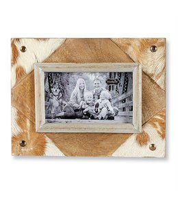 Mud Pie Cowhide Frame Small