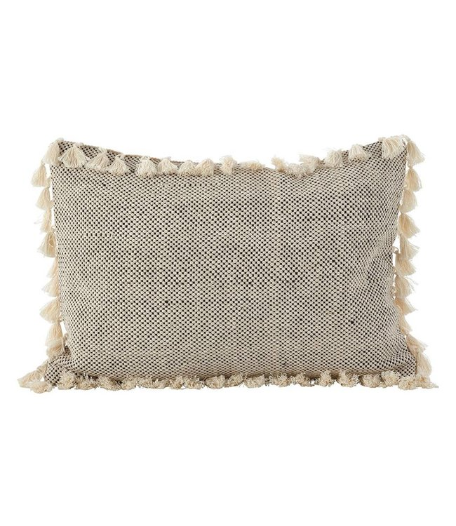 Tassled Moroccan Pillow - Ivory