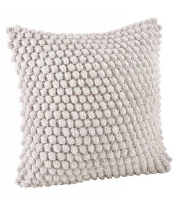 Crochet Pompom Pillow - White