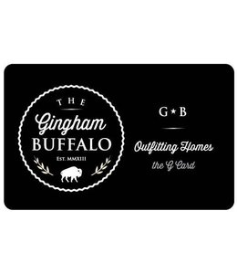 Gingham Buffalo Gift Card
