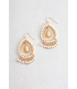 Lovoda Clara Dangle Earrings - Peach