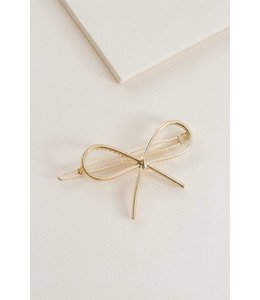 Lovoda Tied Up Bow Hair Clip Gold