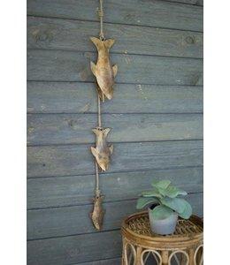 String of Three Decorative Fish Bells