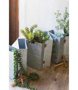 Six Folding Galvanized Flower Boxes