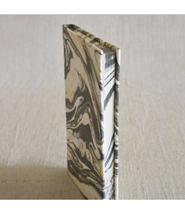 Marbleized Paper Journal Grey