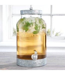 Home Essentials 1.5 Gallon Beverage Dispenser with Galvanized Lid