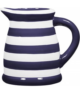 Home Essentials Indigo and White Stripe Pitcher