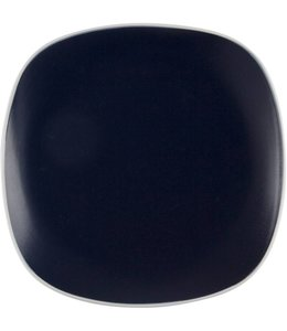 Home Essentials Indigo Dinner Plate with White Rim 10""