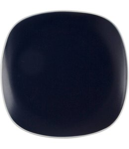 Home Essentials Indigo Salad Plate with White Rim 8""
