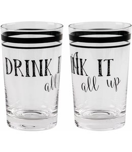 Home Essentials Drink It All Up Glass
