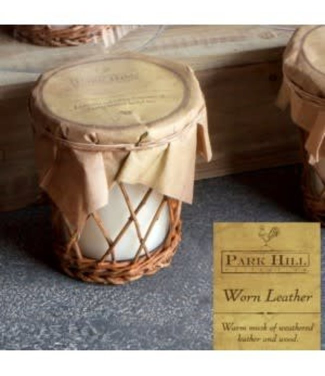 Park Hill Collections Worn Leather Willow Candle