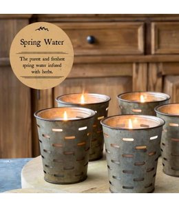 Spring Water Olive Bucket Candle