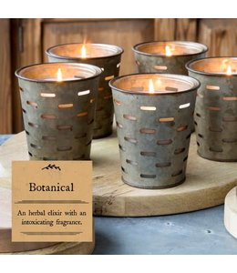 Park Hill Collections Botanical Olive Bucket Candle