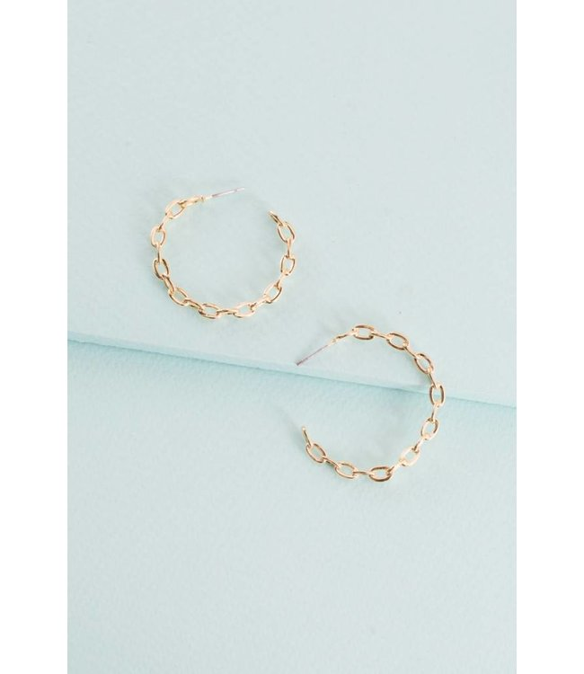 Lovoda Chain Link Hoop Earrings