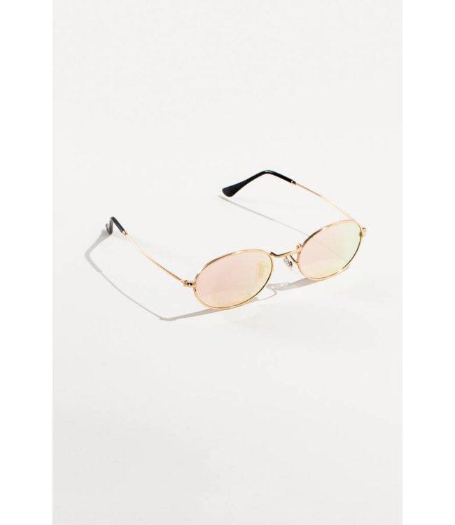 Lovoda On Tempo Oval Sunglasses - Rose