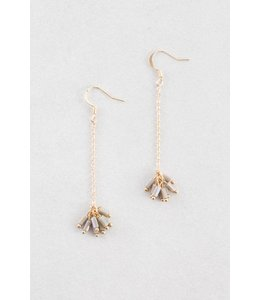 Lovoda Palm Dangle Earrings - Dark Olive