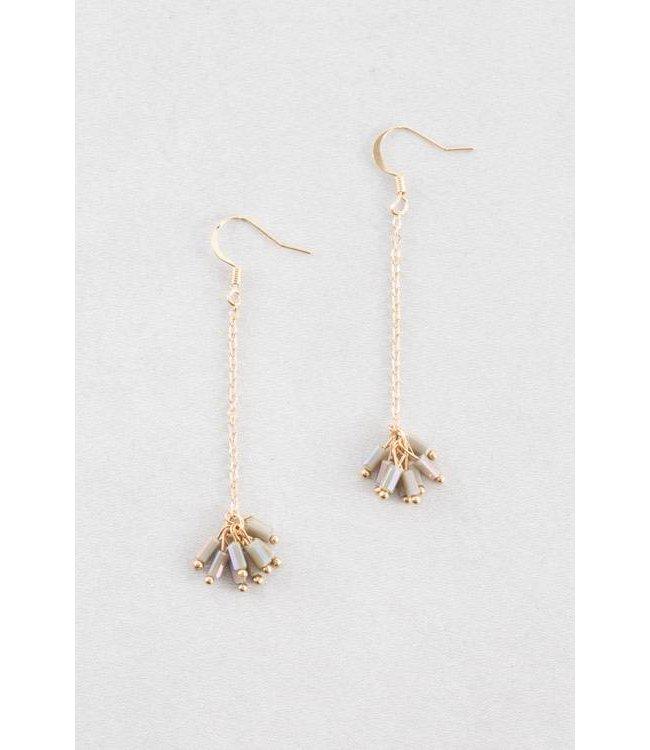 Lovoda Palm Dangle Earrings - Dark Olive
