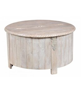 Anya Barrel Storage Table 36in White