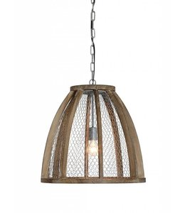Creative Co-Op Round Wood Pendant Lamp