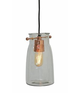 Creative Co-Op Glass Hanging Lamp 10""