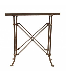 Creative Co-Op Bronze Metal Table  20L x 12W x 20H