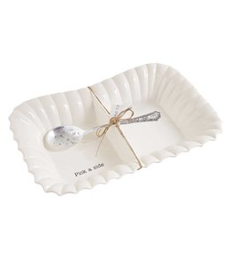 Mud Pie Large Divided Side Dish Set