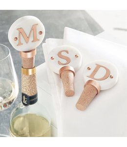 Mud Pie Initial Copper Wine Topper