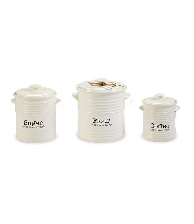 Mud Pie Ribbed Canister Set