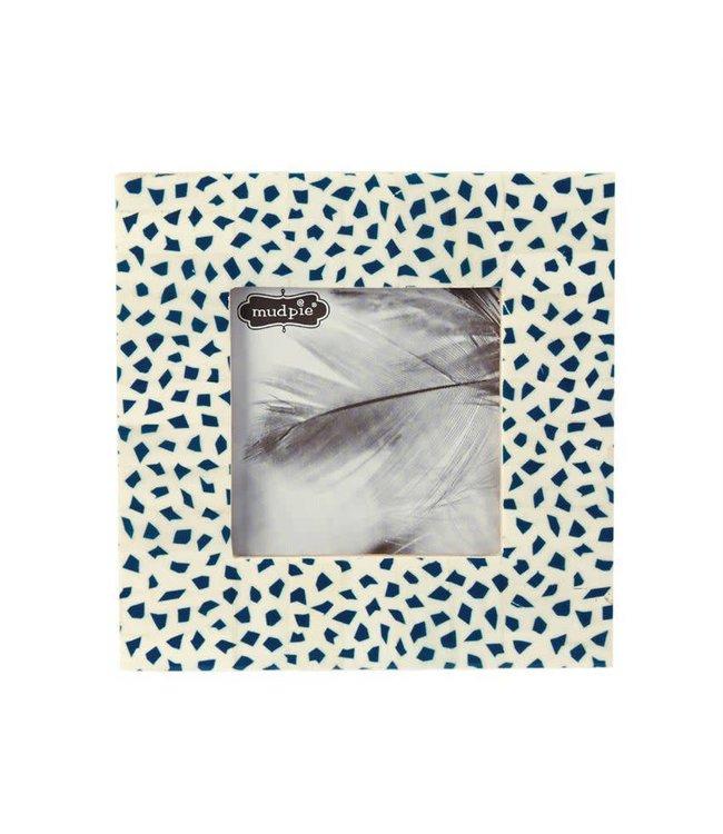 Mud Pie Blue Mosaic Bone Frame