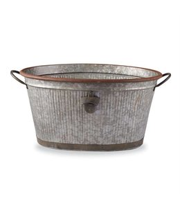 Mud Pie Fluted Tin Beverage Party Tub