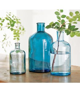 Mud Pie Blue Bottle Vase