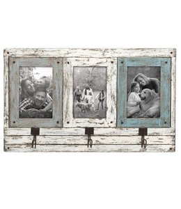 Foreside Home & Garden Three Photo Frame with Hooks - 4x6