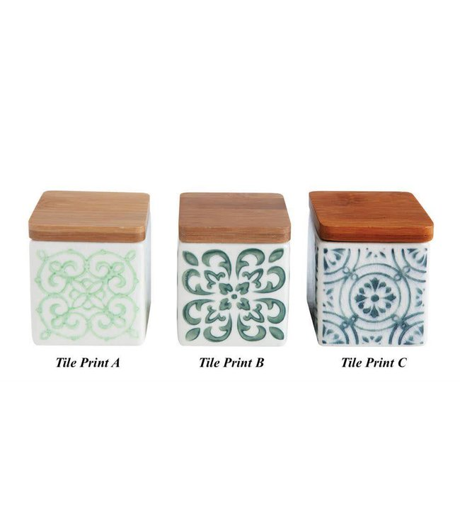 """Creative Co-Op Stoneware Canister 2-1/4"""""""