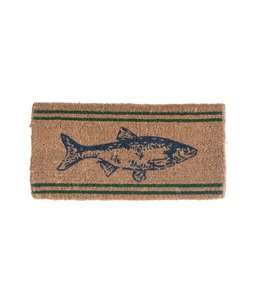 Creative Co-Op Natural Coir Fish Doormat - 32x16
