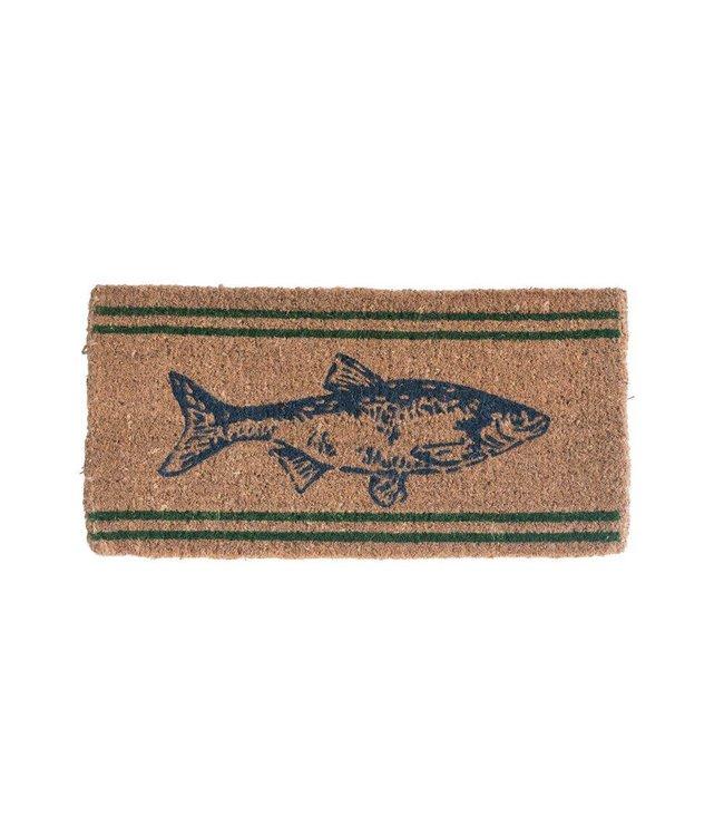 Creative Co-Op Natural Coir Fish Doormat - 32x16
