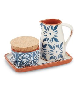 Mud Pie Bungalow Cream & Sugar Set
