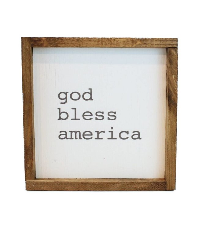12x12 Printed Art - God Bless America