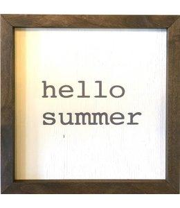 12x12 Printed Art - Hello Summer