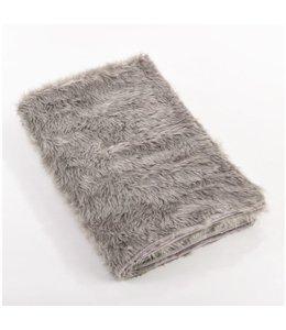 Faux Fur Throw Grey