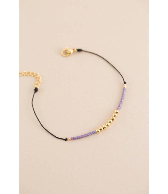Lovoda Brinn Bead Cord Bracelet (14K)