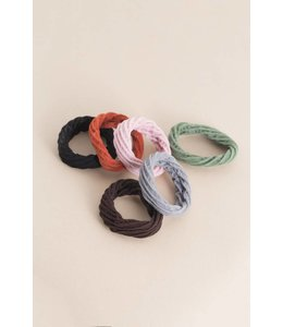 Lovoda Mini Scrunchy Hair Ties Multi-Colored