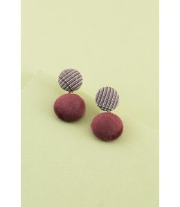 Lovoda Off To Work Earrings - Maroon