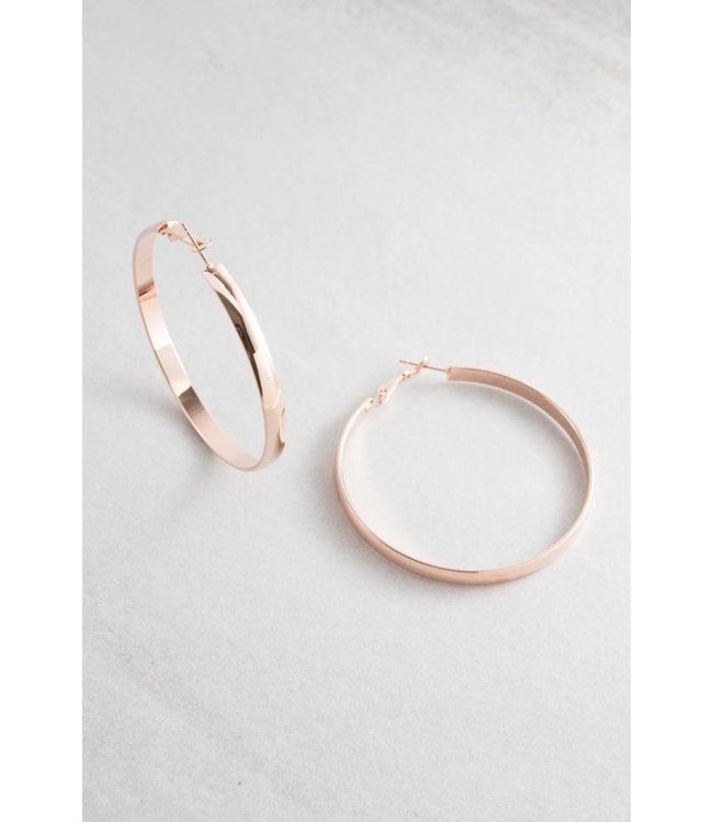 Lovoda Own the Night Hoop Earrings - Rose Gold