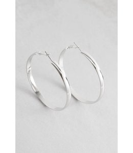 Lovoda Own the Night Hoop Earrings - Silver