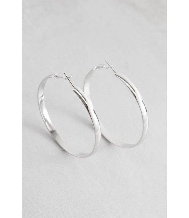 Lovoda Own the Night Hoop Earrings - Silver
