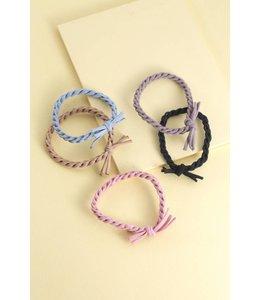 Lovoda Rope Twist Hair Ties - Multi-Colored