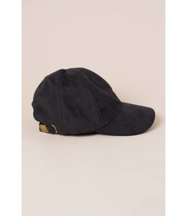 Lovoda Suede Baseball Cap - Black